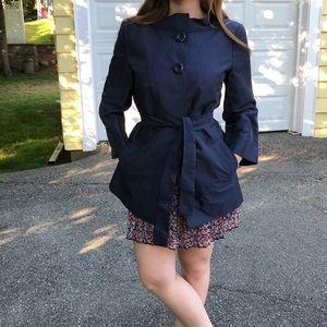 Talbots navy blue coat/topper